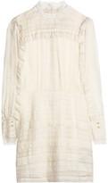 Isabel Marant Ramses Ruffle-Trimmed Silk And Linen-Blend Mini Dress