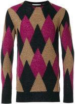 Laneus argyle knitted sweater - men - Polyamide/Alpaca - 50