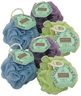 EcoTools Ecopouf Mini Bath Sponge, Assorted Colors, (Pack of 12)