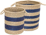 GreenGate Sally Seagrass Baskets Indigo Set of 2