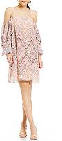 Gianni Bini Sue Cold Shoulder Printed Dress