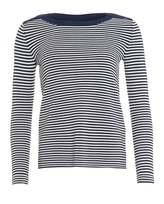 Max Mara Weekend Womens Cogna Jumper, Ultra Marine Blue White Striped Sweater