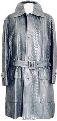 Marni Grey Python Trench Coat for Women