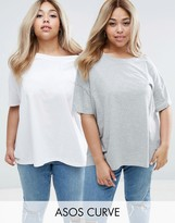 Asos Super Oversized T-Shirt 2 Pack