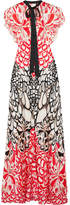 Temperley London Blaze Open-back Printed Silk Gown - Red