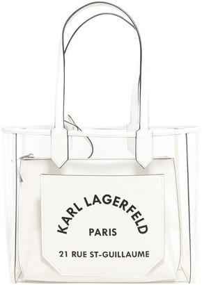 Karl Lagerfeld Paris K/Journey Transparent Tote Bag