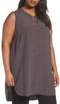 Eileen Fisher Plus Size Women's Tencel Blend Tunic Shirt