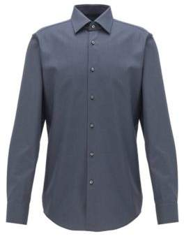 Slim-fit shirt in cotton with two-tone micro check