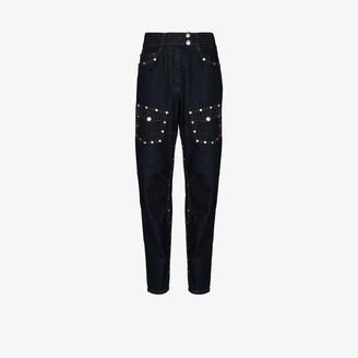 Dries Van Noten Stud-Detailing Tapered Jeans