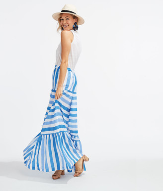 Vineyard Vines Tiled Stripe Maxi Skirt