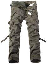 HITTIME TR.OD Men's Cargo Pants Army Green Big Pockets Decoration Mens Casual Trousers(28-38)