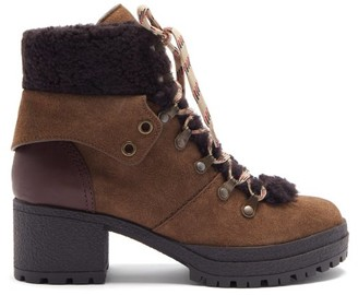 See by Chloe Crosta Suede Hiking Boots - Brown