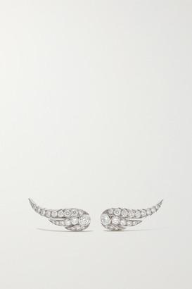 Jessica McCormack Wing Of Desire 18-karat White Gold Diamond Earrings - One size