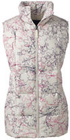 Lands' End Women's Tall Down Vest-White Pelican Floral Print