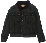 True Religion Black Faux Fur-Trim Denim Jacket - Boys