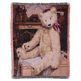 Gund Baby Teddy Bear Throw Blanket, Tapestry (Discontinued by Manufacturer)