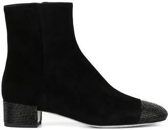 Rene Caovilla Strass toe ankle boots