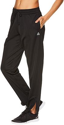 Reebok Women's Leggings BLACK - Black Logo Track Pants - Women