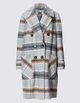 Marks and Spencer PLUS Checked Overcoat