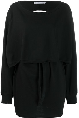 T By Alexander Wang Cut-Out Back Sweatshirt Dress