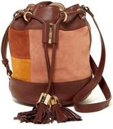 See by Chloe Vicki Suede Patchwork Bucket Bag