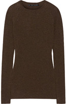 Haider Ackermann Ribbed Wool And Cashmere-blend Sweater - Brown