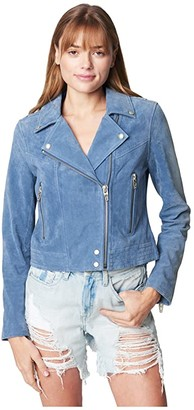 Blank NYC Real Suede Moto Jacket (Play Date) Women's Clothing