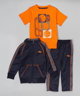 CB Sports Neon Orange Tracksuit Set - Toddler & Boys