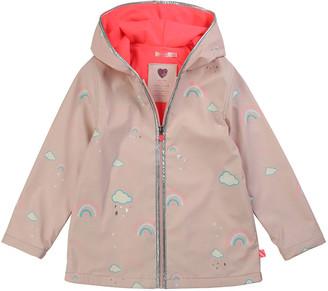 Billieblush Girl's Color Changing Rainbow Graphic Raincoat, Size 4-10