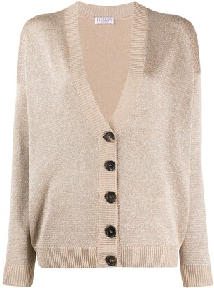 Brunello Cucinelli Button-Up Long Sleeve Cardigan