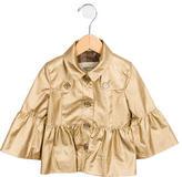 Burberry Girls' Collared Metallic Jacket