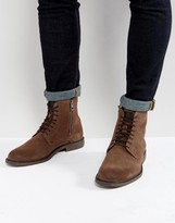 BOSS ORANGE By Hugo Boss Cultroot Suede Boots In Brown