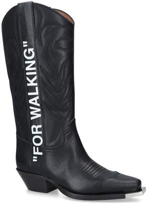 """Off-White Off White """"For Walking"""" Cowboy Boots"""