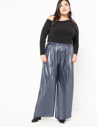 ELOQUII Metallic High Waist Wide Leg Pant