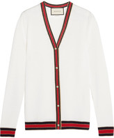 Gucci Striped Wool Cardigan - Ivory