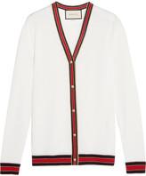 Gucci Striped Wool Cardigan - Ivory