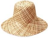 BEIGE Borneo Fisherman Bucket Straw Hat In