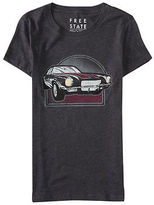 Aeropostale Womens Free State Vintage Car Graphic T Shirt Gray