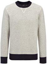 Bonded Cashmere Sweatshirt In Grey Chine