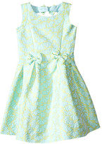 Us Angels Brocade Sleeveless Dress w/ Bow Trim & Back Cut Out (Toddler/Little Kids)
