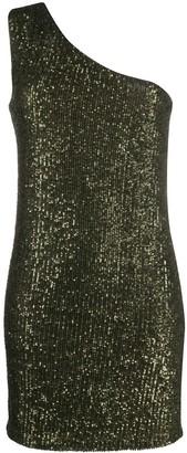 Liu Jo Sequin One Shoulder Dress