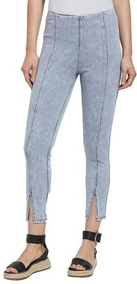 Lysse Medium Control Evelyn Split Cropped Denim Leggings