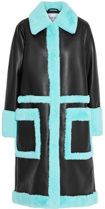 Stand Studio Riley Two-tone Faux Shearling Coat