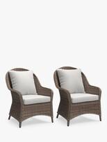 John Lewis & Partners Rye Garden Lounging Armchairs, Set of 2, Natural