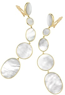 Ippolita 18K Yellow Gold Polished Rock Candy Mother-of-Pearl Clip-On Graduated Drop Earrings