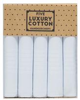 George 5 Pack Cotton Handkerchiefs
