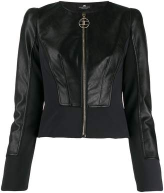 Elisabetta Franchi cropped faux leather jacket