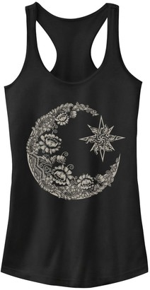 Juniors' Lace Moon Tank