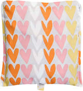 Caroline Gardner Hearts Foldaway Shopper Bag, Multi