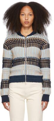 3.1 Phillip Lim Blue & Beige Striped Jacket